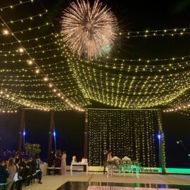 Firework at Puerto Vallarta Wedding